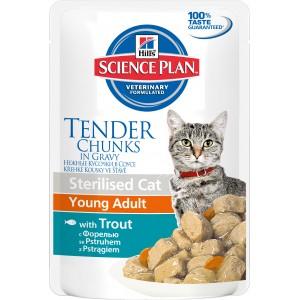 Hill's SP Feline SCat YAdult Trout Cat Wet